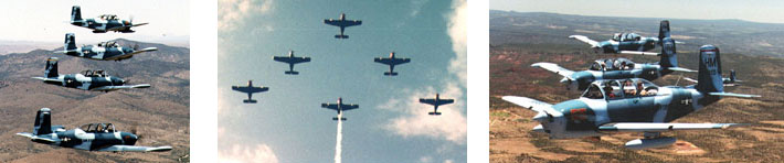 T-34 Six Ship Formation Practice